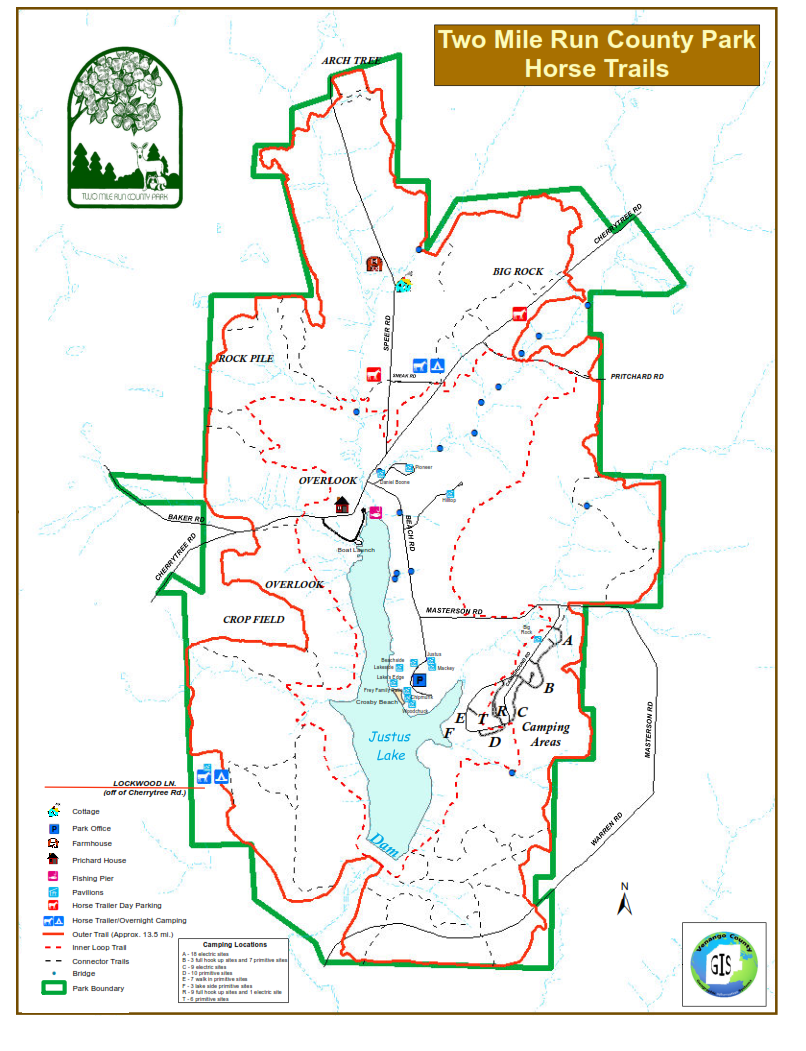 Horse Trail Map - 2015 (PDF)